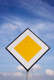 Damaged Road Sign Royalty Free Stock Photos