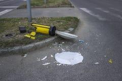 Damaged road sign 2 Royalty Free Stock Photo