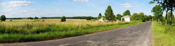 Damaged road. In the village Stock Photo