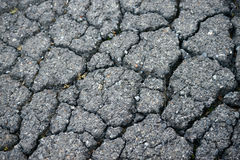 Damaged roads Royalty Free Stock Image