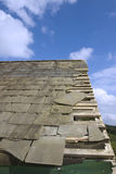 Damaged roof with broken slates Stock Photography
