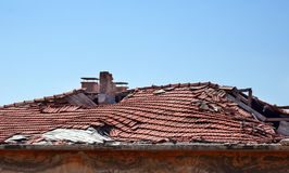 Damaged roof Royalty Free Stock Photography