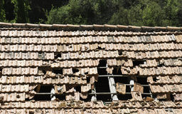 Damaged roof Royalty Free Stock Photo
