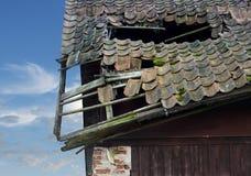 Damaged roof Stock Image