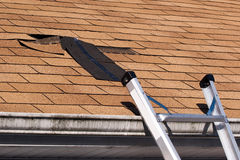 Free Damaged Roof Shingles Repair Stock Photo - 13499080
