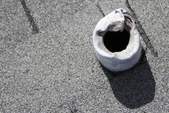 Damaged Roof Vent Stack Stock Photos