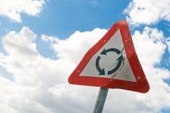 Damaged roundabout sign Stock Image
