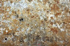 Damaged & rusted metal panels texture fromYak-9. Authentic damaged and rusted metal panels texture from the old Soviet Yakovlev Yak-9 fighter Stock Photos