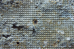 Damaged and rusted metal panels texture from Yak-9. Authentic damaged and rusted metal panels texture from the old Soviet Yakovlev Yak-9 fighter Royalty Free Stock Photography