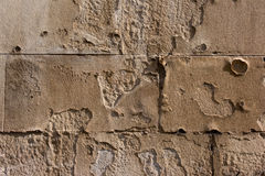 Damaged Sand Brick Wall Royalty Free Stock Images