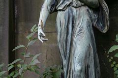 Damaged sculpture of a female angel statue Royalty Free Stock Photos