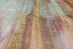 Damaged seasoned wooden floor plank with scratch marks needs res Stock Images