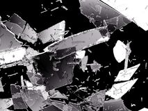 Damaged and Shattered glass on black. Large resolution Royalty Free Stock Photos