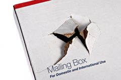 Damaged Shipping Box Stock Photos
