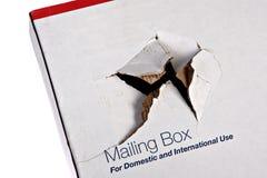 Damaged Shipping Box stock photos