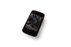 Damaged. Smart phone isolated on white background royalty free stock photos