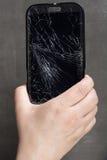 Damaged smartphone Royalty Free Stock Photography