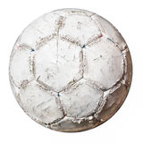 Damaged soccer ball Royalty Free Stock Photo