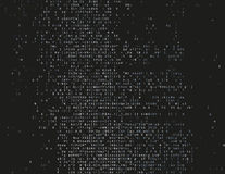 Damaged source code. Corrupted source code. Modern vector illustration about computer security. Abstract ascii glitch background. Fatal programming error. Buffer Stock Photos