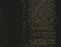 Damaged source code. Corrupted source code. Modern vector illustration about computer security. Abstract ascii glitch background. Fatal programming error. Buffer Royalty Free Stock Photo