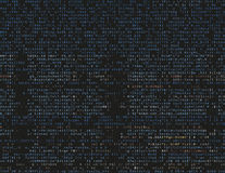 Damaged source code Royalty Free Stock Photo