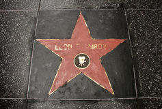 The damaged star on Hollywood blvd Royalty Free Stock Images