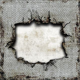 Damaged steel plate Royalty Free Stock Image