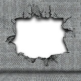 Damaged steel plate Stock Image