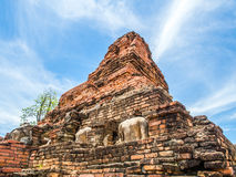 Damaged stupa at Wat Phra Phai Luang Stock Images