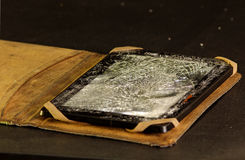 Damaged tablet Stock Image