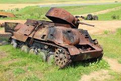 Damaged tank Stock Photo