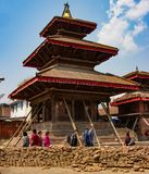 A Damaged Temple from 2015 Nepal Earthquake royalty free stock photo