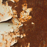 Rusty painted metal background. Weathered rusty painted metal background Royalty Free Stock Photography