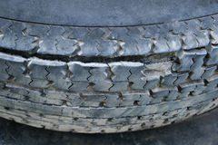 Damaged tire Royalty Free Stock Photos