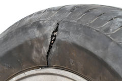 Damaged tire Stock Photos