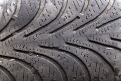 Damaged tires Stock Image