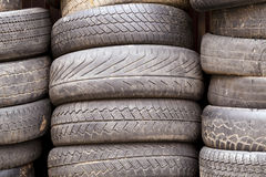 Damaged tires Stock Photo