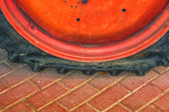 Damaged truck, vehicle tire. Royalty Free Stock Photos