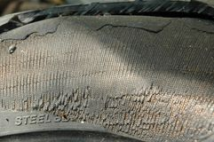 Damaged Tyre Stock Photography