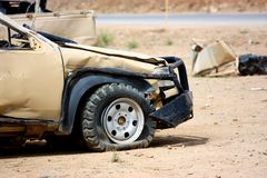 A damaged vehicle Stock Images
