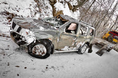 Damaged vehicle Stock Photo