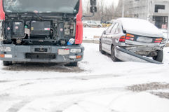 Damaged vehicles. From dangerous accidents Royalty Free Stock Photo