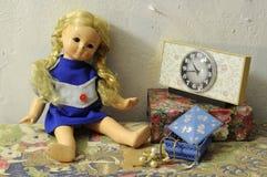 Damaged Vintage Doll Stock Photo