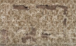 Old damaged vintage wallpaper wall background. Damaged vintage wallpaper wall background royalty free stock photography