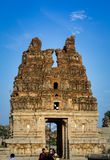 Damaged Vittala Temple tower Royalty Free Stock Image