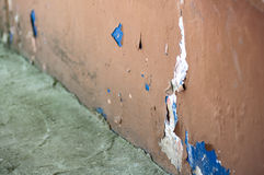 Damaged wall from dampness Stock Photo