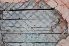Damaged wall of a house closeup Stock Image