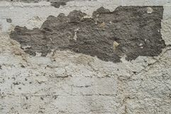 Damaged wall. Photo of damaged and grunge wall Royalty Free Stock Image