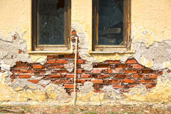 Damaged wall texture stock photography