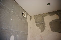 Damaged walls Stock Photo